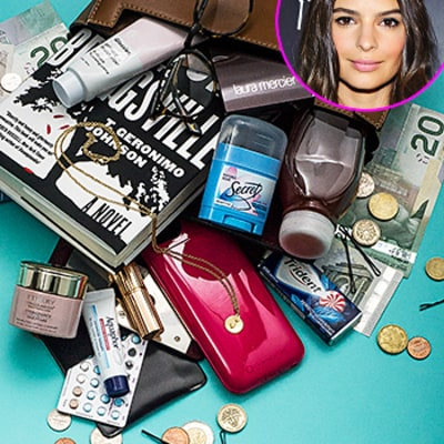Emily Ratajkowski Empties Out and Dishes to Us About What's In Her Bag