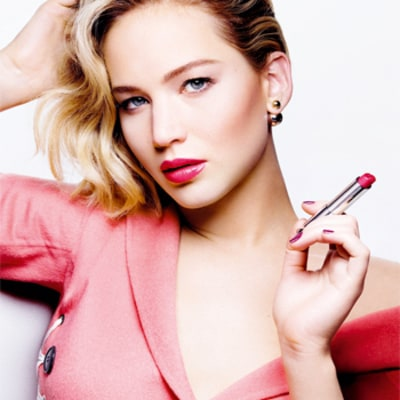 Jennifer Lawrence on Her Dior Addict Lipstick Ads — Plus, Her Makeup Must-Haves for an