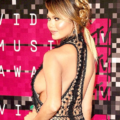 Chrissy Teigen, Nicki Minaj, Miley Cyrus, and More Were Almost Naked at the 2015 VMAs: See Their Risque Red Carpet Styles