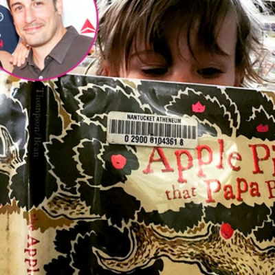 Jason Biggs' Son Reminds Him of his American Pie Past With Book Choice: Cute Photo!