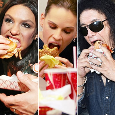 Happy National Cheeseburger Day: Here's 10 Ridiculous Photos of Celebs Stuffing Their Faces