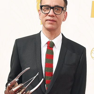 Fred Armisen Wears Crazy Freddy Krueger Claws to 2015 Emmys