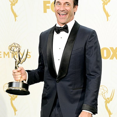 Jon Hamm Finally Wins: Christina Hendricks Is Oddly Stoic, Elisabeth Moss Almost Cries With Joy, Plus More Audience Reactions at Emmys 2015