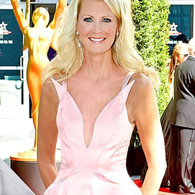 Sandra Lee Dons a Plunging Pink Dress at the Emmys 2015 for Her First Red Carpet Since Mastectomy Surgeries