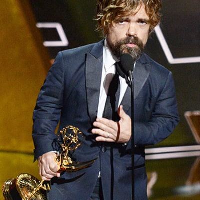 Did Peter Dinklage Spit His Gum Into His Wife's Mouth Before Accepting His Emmy? Sure Looks Like It!