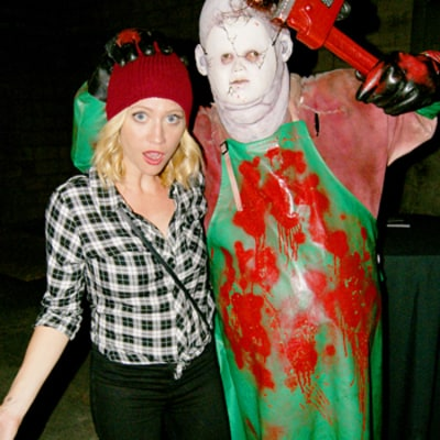 Celeb Sightings: Brittany Snow Gets Spooked at Haunted Halloween Maze
