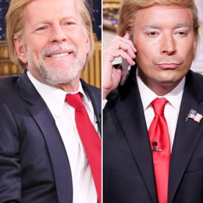 Bruce Willis, Jimmy Fallon, and More Stars Impersonate Donald Trump: Who Did It Best?