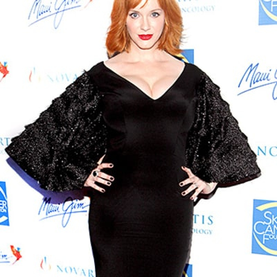 Must Be Halloween! Christina Hendricks' Red Carpet Dress Boasts Bat Wings: Love It or Hate It?
