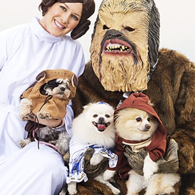 Heidi Montag, Spencer Pratt Dress as Princess Leia, Chewbacca With Their Dogs for Halloween: Pics