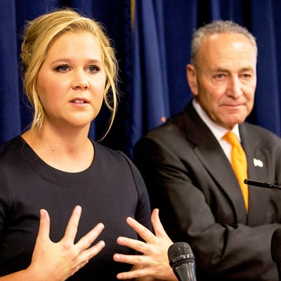 Amy Schumer Defends Second Cousin Chuck Schumer After President Donald Trump Targets Him on Twitter