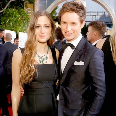 Eddie Redmayne, Pregnant Wife Hannah Bagshawe Receive Baby Onesies at Golden Globes 2016