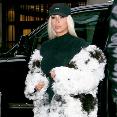 Kim Kardashian Covers Her Post-Baby Body Under (Another) Fur Coat
