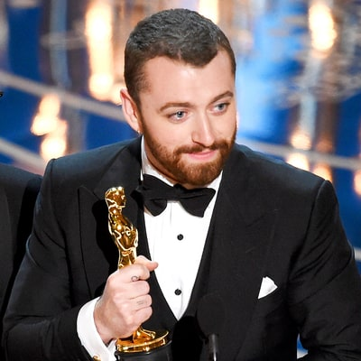 Sam Smith Tearfully Wins at Oscars 2016 in Best Original Song Upset: 'I Stand Here Tonight as a Proud Gay Man'