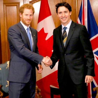 Prince Harry Meets Canadian Prime Minister Justin Trudeau to Launch Third Invictus Games, Our Hearts Explode!