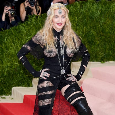 Madonna Jumps Up and Down on the Met Gala 2016 Red Carpet