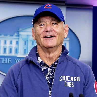 Bill Murray Crashes White House Press Briefing to Discuss His Beloved Chicago Cubs