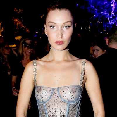 Bella Hadid Bares Her Nipples in a Sheer Corset Gown