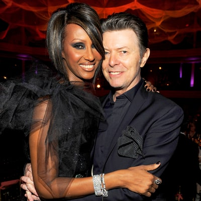 Iman Pays Tribute to David Bowie With Photo of a Rainbow on One-Year Anniversary of His Death