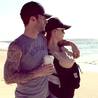 Adam Levine Shares Adorable Family Photo With Behati Prinsloo, Baby Dusty Rose: 'Everything I Need'