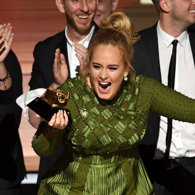 Adele Breaks Her Grammy Award in Half and Dedicates It to Beyonce: 'I Voted for Her'