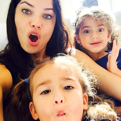 Adriana Lima Gushes Over Her Makeup-Loving Daughters Valentina and Sienna