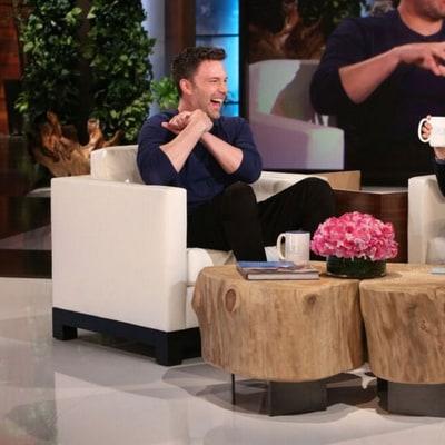 Ben Affleck Talks Jennifer Garner Split on 'Ellen': 'We're Doing Our Best for the Kids' — Plus, Affleck Gets a Superhero Fright