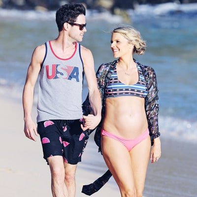 Pregnant Ali Fedotowsky Shows Off Her Baby Bump in a Bikini