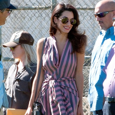 Amal Clooney's Striped Jumpsuit Is Candy-Coated Perfection