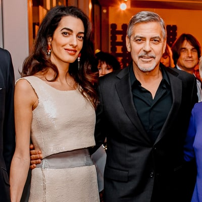 Amal Clooney Steps Out in Stunning, Loose-Fitting Dress Amid Pregnancy Rumors: Pics