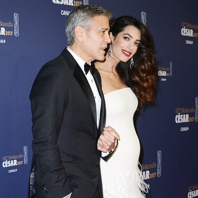 Pregnant Amal Clooney Shows Off Her Baby Bump in Stunning Fitted Gown