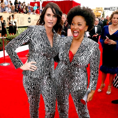 Transparent's Amy Landecker and Black-ish's Jenifer Lewis Twin in the Same Pantsuit at the SAG Awards 2017: Who Wore It Best?