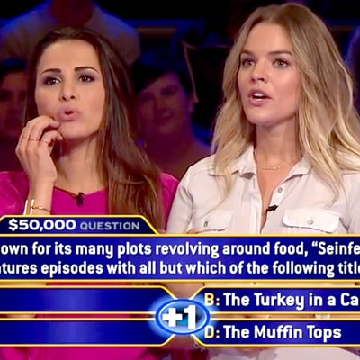 Andi Dorfman and Nikki Ferrell Stumped by 'Seinfeld' Question in 'Who Wants to Be a Millionaire' Sneak Peek