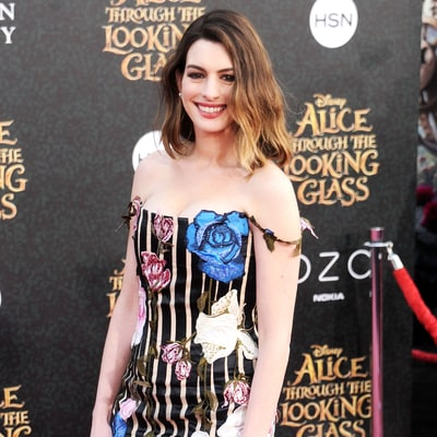 Anne Hathaway Showcases Banging Post-Baby Body in Striped Minidress: Pictures
