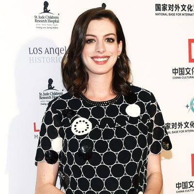 Pregnant Anne Hathaway Goes Blonde: See Her Hair Makeover
