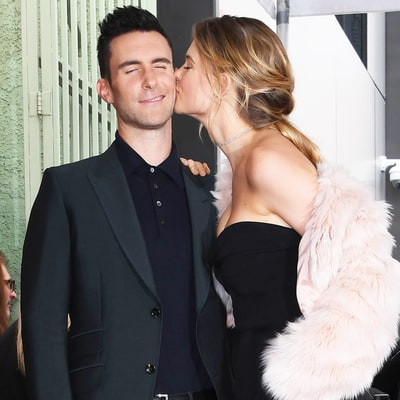 Adam Levine Behati Prinsloo Bring Baby Dusty to Walk of Fame Ceremony