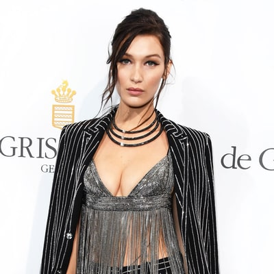 Bella Hadid Wears Insanely Fringed Crop Top at Cannes