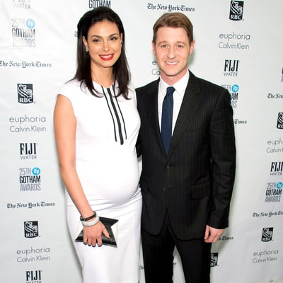 Morena Baccarin Showcases Baby Bump in Fitted White Dress on Date Night With Ben McKenzie