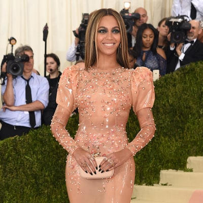 Beyonce Stuns in a Nude Latex Gown for the Met Gala 2016