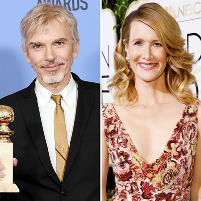 Billy Bob Thornton, Ex-Fiancee Laura Dern Have Awkward Run-In at 2017 Golden Globes: Twitter Reactions