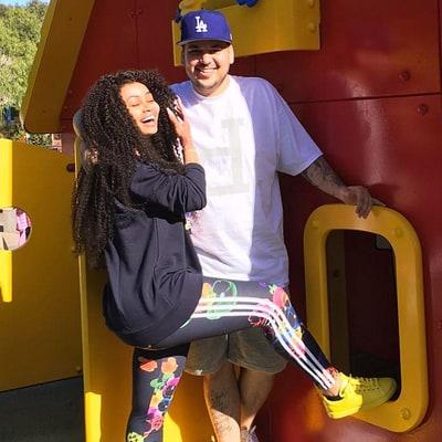 Rob Kardashian Kicks Off Birthday Celebrations With Blac Chyna at Legoland