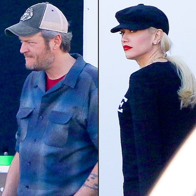 Blake Shelton, Gwen Stefani Hit the Studio Together: Photos!
