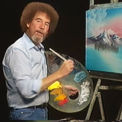 Beloved Artist Bob Ross' Curly Hair Was Actually Straight! Here's Why He Got a Perm
