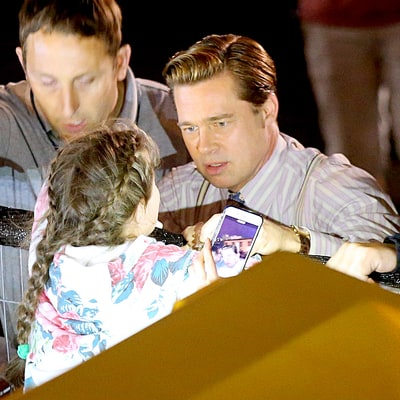 Brad Pitt Helped Save a Young Fan From a Rowdy Crowd on 'Allied' Set