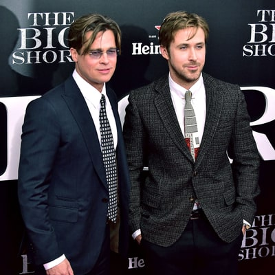 Brad Pitt Hits the Red Carpet With Ryan Gosling, Raves About His Kids