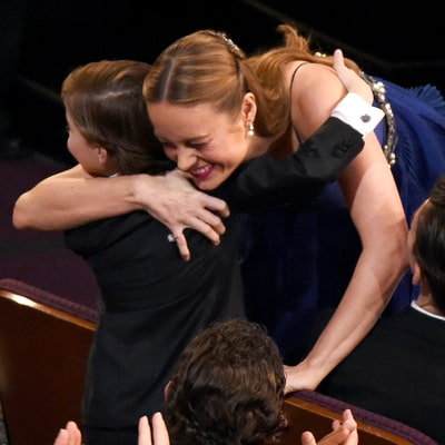 Oscars 2016: Brie Larson Hugs Jacob Tremblay After Winning Best Actress