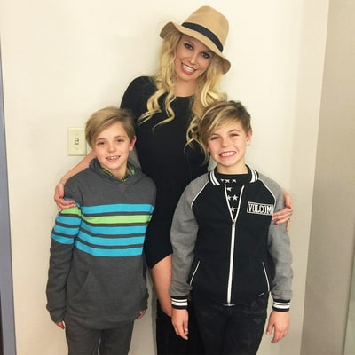Britney Spears Screams in Fright After Her Sons Scare Her
