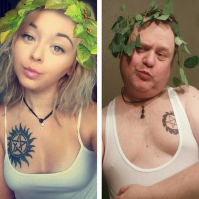Dad Recreates Daughter's Sexy Selfies Instead of Telling Her to Stop