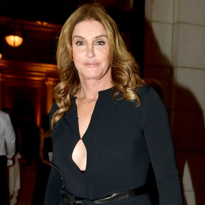Caitlyn Jenner Wears Plunging Neckline Dress to Donald Trump's Pre-Inauguration Dinner