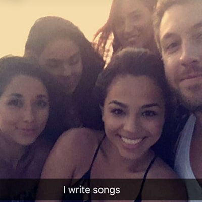 Calvin Harris Poses With Bevy of Beautiful Girls After Taylor Swift Split