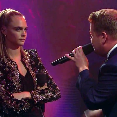Dave Franco, Cara Delevingne Destroy James Corden in Epic Three-Way Rap Battle